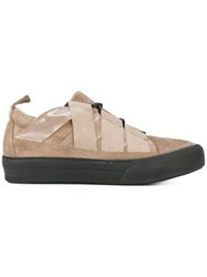 Damir Doma Low Top Sneakers Men Leather Suede Rubber 44 Nude Neutrals
