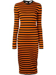 Givenchy Striped Fitted Dress Black