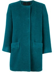 Etro Collarless Coat Green