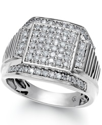 Macy's Men's Diamond Ring In 10K White Gold 1 Ct. T.W.