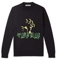 Mcq By Alexander Mcqueen Intarsia Knitted Sweater Black