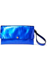 Marni Iridescent Leather Clutch Royal Blue