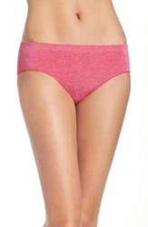B.Tempt'd Women's By Wacoal Hipster Briefs Pink Yarrow Heather
