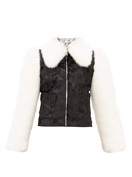 Shrimps Otis Faux Fur Jacket Black Cream