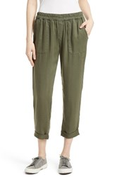Joie Women's Saphine Pull On Twill Roll Cuff Pants Surplus