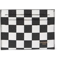 Givenchy Printed Pebble Grain Leather Cardholder Black