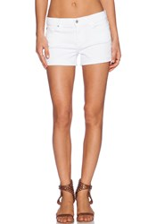 7 For All Mankind Roll Up Short Clean White