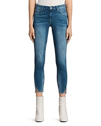 Allsaints Mast Twisted Jeans In Indigo Blue