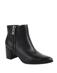 Charles By Charles David Uma Leather Ankle Boots Black