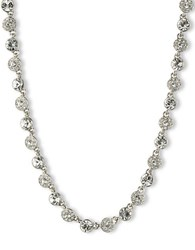 Givenchy Silvertone And Crystal Collar Necklace