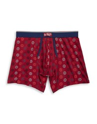 Original Penguin Logo Print Boxer Briefs Red