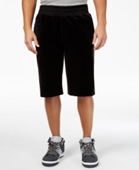 Sean John Men's Velour Shorts Black