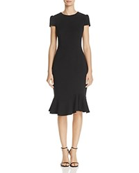 Betsey Johnson Scuba Crepe Midi Dress Black
