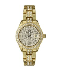 Toy Watch Ladies Metallic Goldtone And Crystal