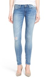 Women's Mavi Jeans 'Serena' Distressed Stretch Skinny Jeans Light Cloud