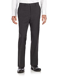 Saks Fifth Avenue Straight Leg Wool Dress Pants Charcoal