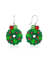 Dolci Gioie Christmas Wreath Earrings