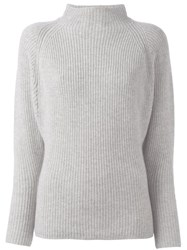 Polo Ralph Lauren High Neck Ribbed Jumper Grey