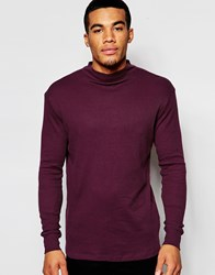 New Look Turtle Neck Jumper In Burgundy