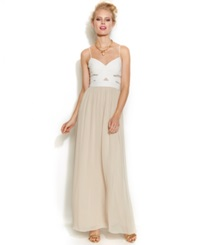 Hailey Logan By Adrianna Papell Juniors' Colorblock Gown