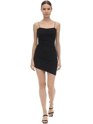 Alexander Wang Asymmetric Compact Jersey Mini Dress Black