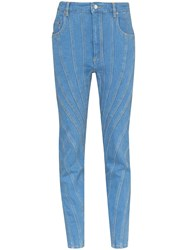 Thierry Mugler Ribbed Panel Skinny Jeans 60