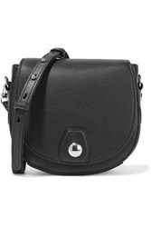 Rag And Bone Flight Mini Textured Leather Shoulder Bag Black