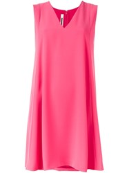 Mcq By Alexander Mcqueen A Line Mini Dress Pink And Purple