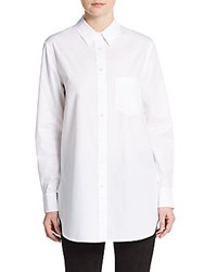 Vince Oversized Cotton Poplin Tunic Optic White