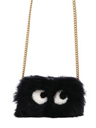 Anya Hindmarch Mini Eyes Shearling Crossbody Bag