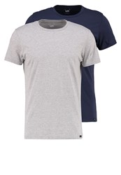 Lee 2 Pack Basic Tshirt Black Mottled Grey