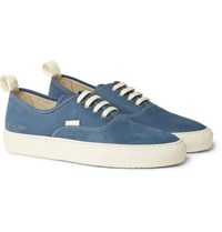 Common Projects Tournament Four Hole Nubuck Sneakers Blue