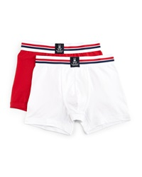 Psycho Bunny Tagless Motion Jersey Knit Boxer Brief Set Red White