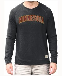 Retro Brand Men's Minnesota Golden Gophers Quad Crew Sweatshirt Black