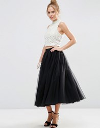 Asos Tulle Prom Skirt With Multi Layers Black