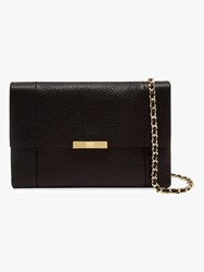 Ted Baker Clarria Leather Cross Body Bag Black Gold