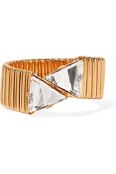 Kenneth Jay Lane Gold Plated Crystal Bracelet One Size