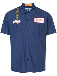 Hysteric Glamour Engineer Shirt Cotton Polyester Blue