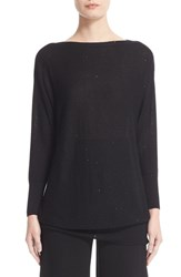 Lela Rose Women's Sequin Knit Silk Blend Sweater