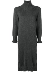 Lorena Antoniazzi Knit Cashmere Dress Grey