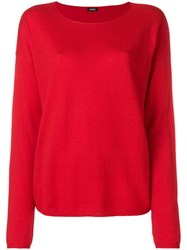 Aspesi Boat Neck Jumper Red