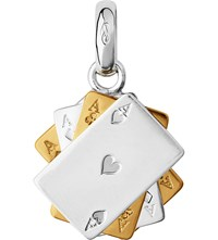 Links Of London Sterling Silver And 18 Carat Gold Poker Cards Charm