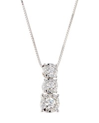 Memoire 18K Diamond Bouquets Bezel Pendant Necklace 0.66Tcw
