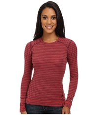 Smartwool Nts Mid 250 Pattern Crew Top Aubergine Heather Women's Long Sleeve Pullover Brown
