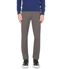 Michael Kors Slim Fit Tapered Stretch Cotton Chinos Smoke