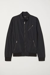 Handm Nylon Blend Bomber Jacket Black