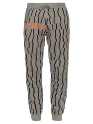 Mcq By Alexander Mcqueen Embroidered Cotton Blend Jersey Track Pants