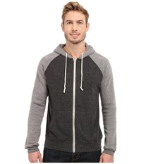 Threads 4 Thought Malibu Raglan Hoodie Heather Black Heather Grey Men's Sweatshirt