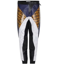 Acne Studios Meade Embossed Leather Trousers Multicoloured
