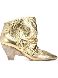 Marsa Ll Distressed Ankle Boots Metallic